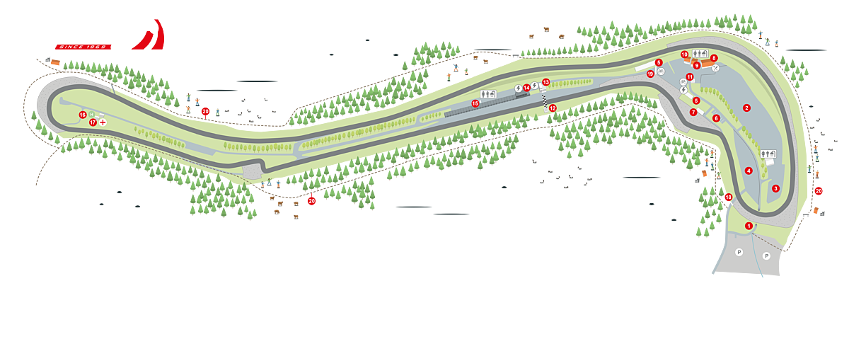 Salzburgring map 2020